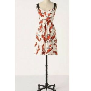 Anthro Edmé & Esyllte Lobster Sundress withPockets